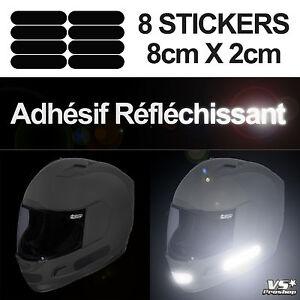 8-Stickers-NOIR-REFLECHISSANT-Securite-motard-Visibilite-la-nuit-Reflective