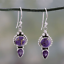 Vintage-Women-Amethyst-Gemstone-Engagement-Wedding-Earrings-925-Silver-Jewelry thumbnail 19