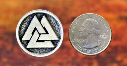 Valknut ButtonsViking NorseOne Inch Round in Fine Pewter FIVE BUTTONS