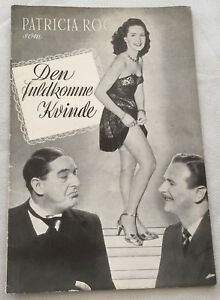 The Perfect Woman Patricia Roc Stanley Holloway Vtg 1949 Danish