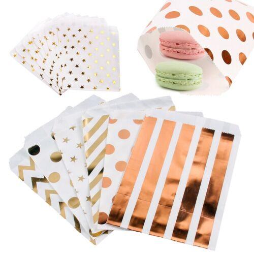 "25PCS 5X7/"" Kraft Paper Candy Bag Party Birthday Wedding Favor Gift Popcorn Decor"