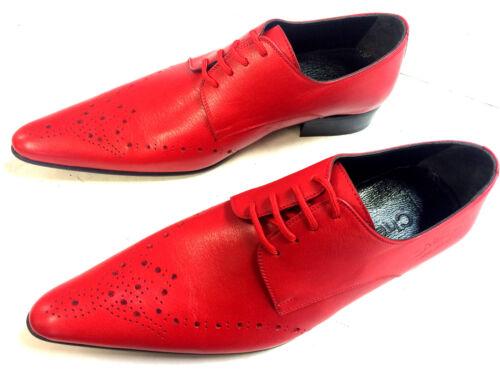 Chaussure Semelle cuir en Slipper fait Men's Fancy Red Chelsy qwXpAEZfp