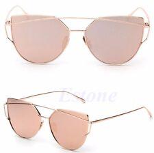 Women Retro Vintage Mirrored Lenses Designer Sports Cat Eye Oversized Sunglasses
