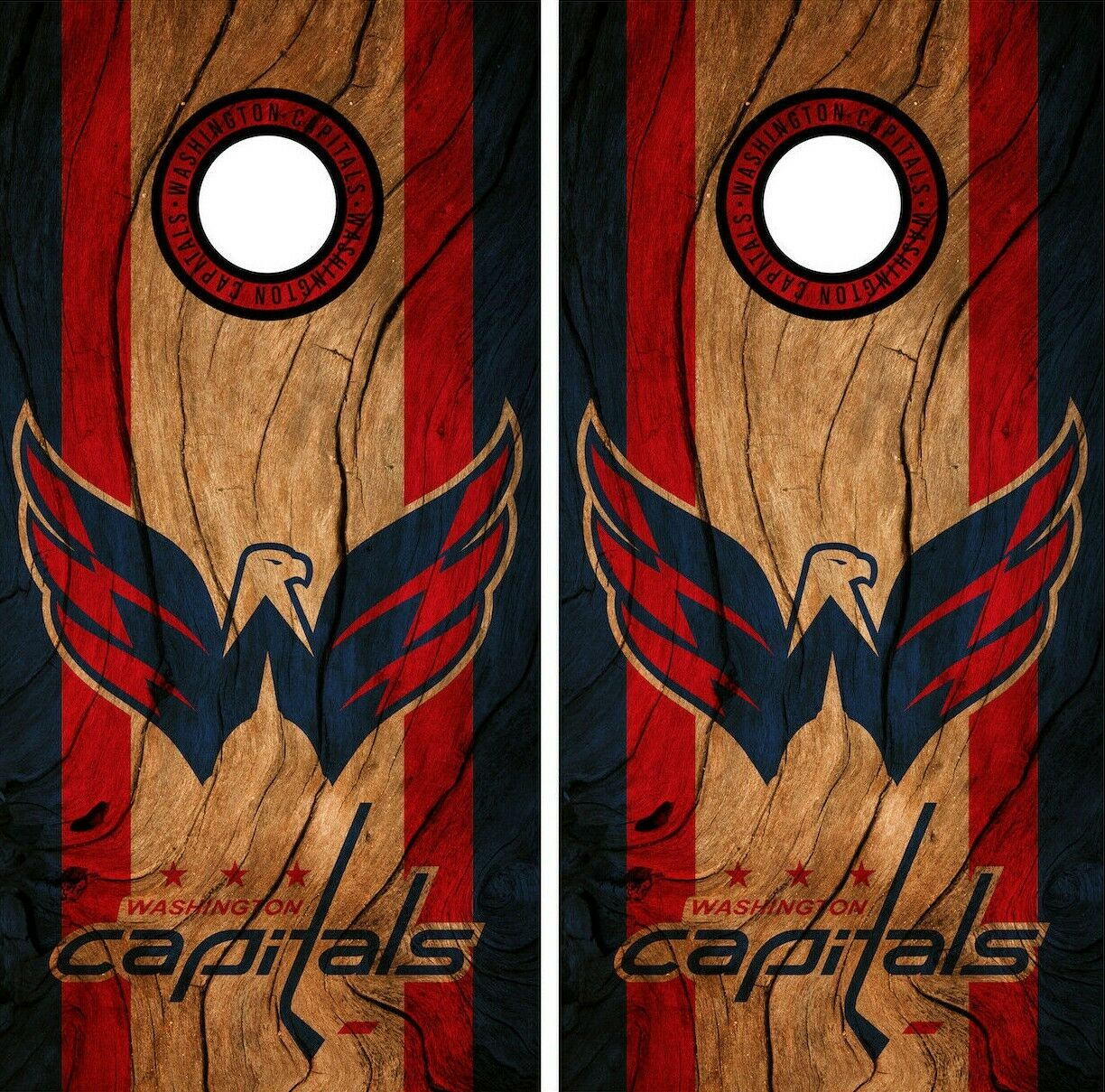 Washington Capitals Cornhole  Wrap NHL Decal Wood Vinyl Gameboard Skin Set YD62  after-sale protection