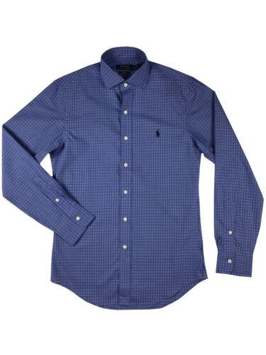 Ralph Lauren Polo Mens Slim Fit Stretch Cotton Pony Logo Spread Collar Shirt New