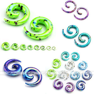 16x-2-12MM-Acrylic-Snail-Spiral-Taper-Ear-Plug-Tunnel-Stretcher-Expander-Earring