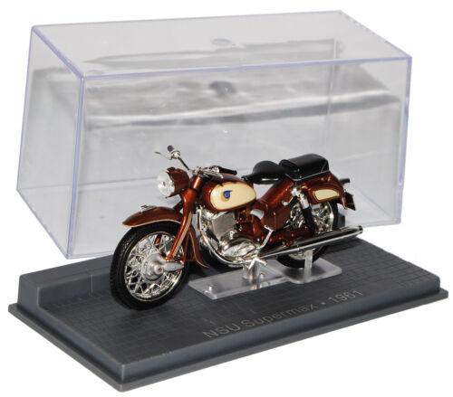 NSU Supermax 1961 Braun 1//24 Modellcarsonline Modell Motorrad mit oder ohne in..