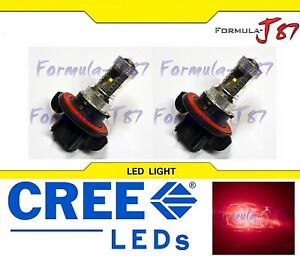CREE LED 30W 9008 H13 Red Two Bulbs Head Light Replacement Snowmobile