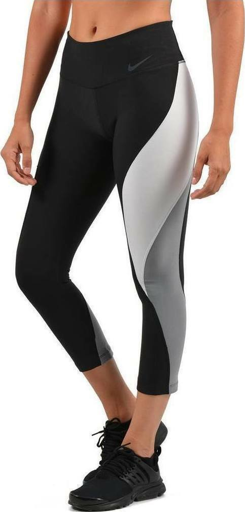 Womens NIKE POWER LEGEND Tight Fit Running Crop Length  Small   904474-010