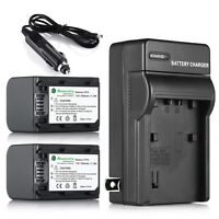 Np-fh70 Battery + Charger For Sony Handycam Hdr-hc9 Np-fh70 Dcr-hc52 Sr42a Sr45