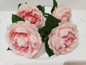 Shabby-Chic-Easter-Pink-Floral-Rose-Napkin-Rings-NEW-Set-of-4