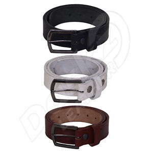MEN-039-S-LEATHER-BELT-100-GENUINE-Black-Brown-White-30-039-039-to-64-039-039