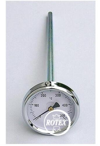 Pirometro termometro per forno gambo 150 mm acciaio inox Made in Italy Rotex
