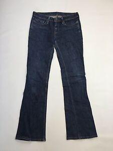 Damen-Levi-034-Bootcut-034-Jeans-W30-L34-Dunkelblau-Waschung-super-Zustand