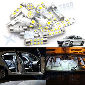 12x White LED Light Interior Package Kit For T10 168 Tail Brake Backup Bulbs
