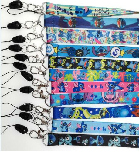 lot cartoon stitchmix Straps Lanyard ID Badge Holders Mobile Neck Key chain
