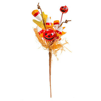 Darice Fall Pumpkin /& Candy Corn Floral Pick 9.5 inches