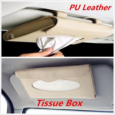 PU leather Auto Car sun visor Tissue box accessories holder Paper napkin clip