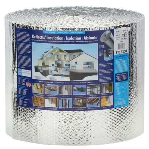 """Reflectix 16/"""" X 100/' Double Reflective Insulation With Staple Tab *NEW*"""