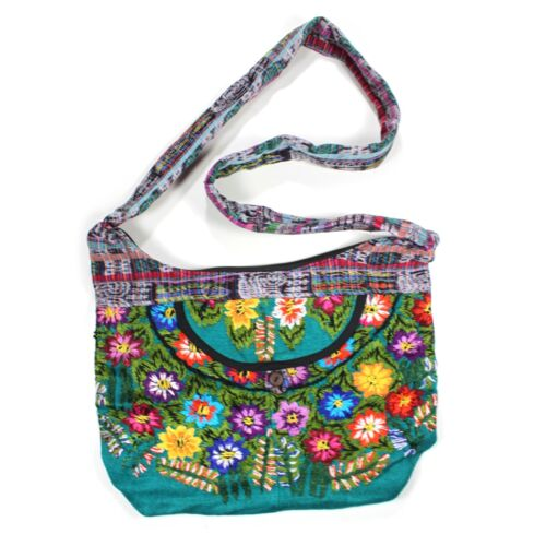 Ladies Handmade Handcrafted Tapestry Floral Design Handbag Shoulder Bag COTTON