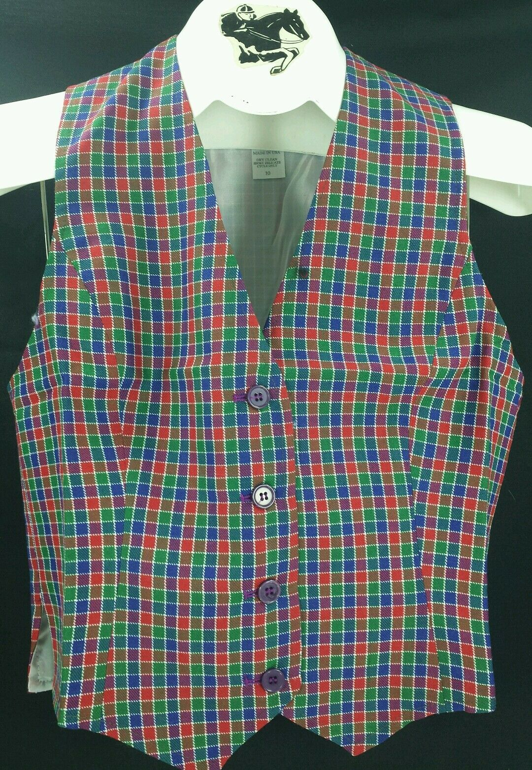 Reed Hill  Ladies Saddleseat RED   blueE   GREEN Vest Poly Blend  discount sales