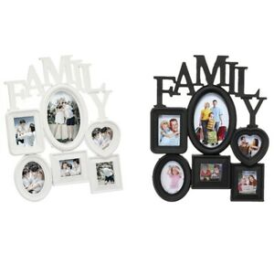 Family-Photo-Frame-Wall-Hanging-6-Multi-Sized-Pictures-Holder-Display-Home-T8W1