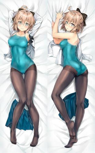 Anime fate//grand order okita souji Dakimakura Hug Body Pillow Cover Case Gift