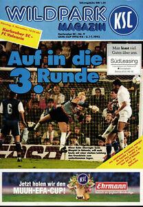 UEFA - EC III 93/94 Karlsruher SC - FC Valencia, 02.11.1993, Die Sensation 7 : 0
