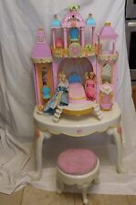 Barbie rare Island Princess Magical Castle Vanity with Mirror + Dolls + accessor