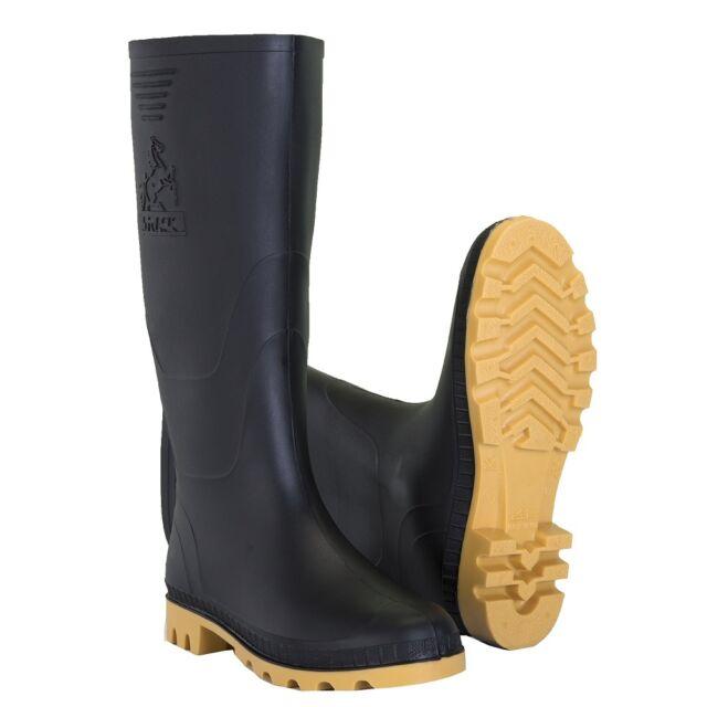 47fcb9e881e New Black Track Men's Waterproof Slip-Resistant PVC Rubber Rain Boots Botas