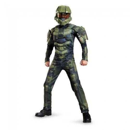 Disguise Halo Master Chief Klassisch Muskel Jungen Kinder Halloween Kostüm 89975