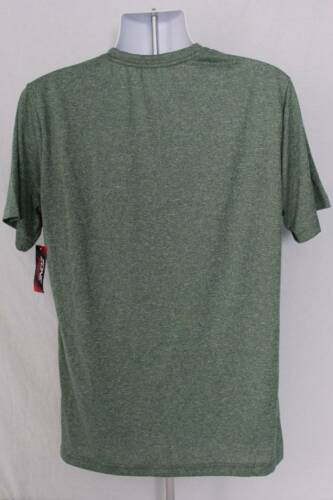 NEW Mens T Shirt XL Athletic Silky Top Green Workout Run Gym Casual Sports