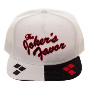 Harley Quinn White Snapback Hat Baseball Cap Joker s Favor Batman DC ... 7b08c5f7e743