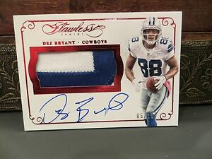 Details About Panini Flawless Ruby Autograph Jersey Cowboys Dez Bryant 05 15 2015