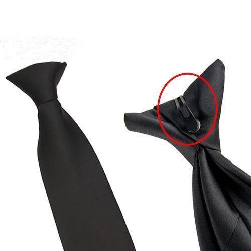 Schwarz Einfarbig Zum Anklammern Krawatte Security Türsteher Beerdigung Hochzeit
