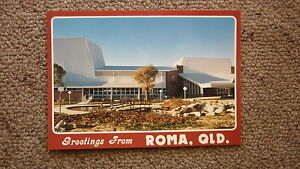 OLD-AUSTRALIAN-POSTCARD-1980s-ROMA-QUEENSLAND-THE-CULTURAL-CENTRE