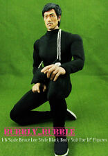 1/6 Bruce Lee Enter The Dragon Kung Fu Black Body Suit Set SHIP FROM USA