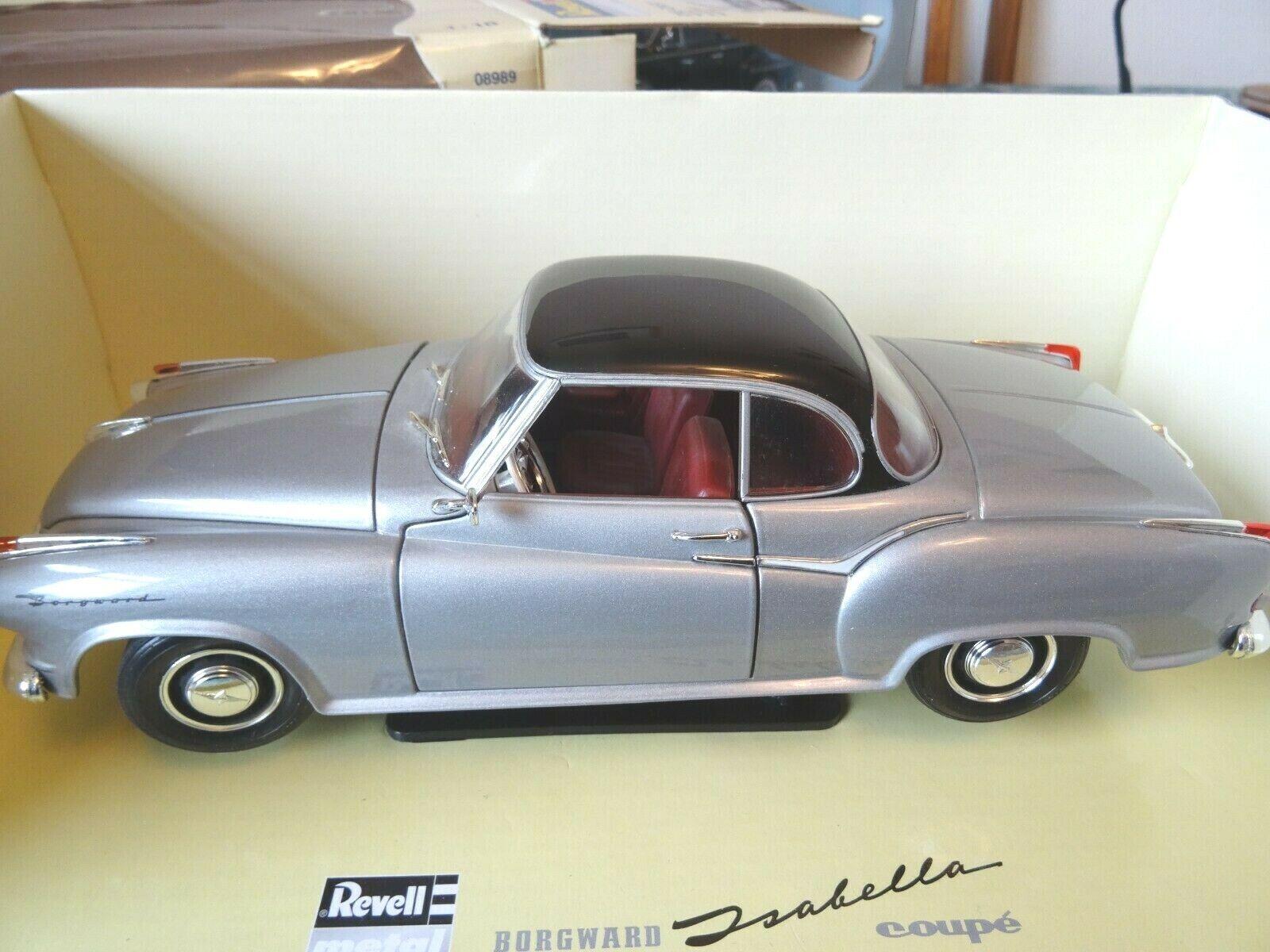 Borgward Isabella  SCALA 1957 1 18 Nero argentoo REVELL di metallo 08989