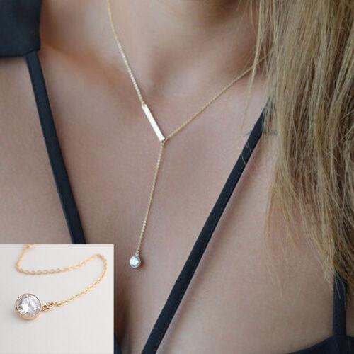 Women/'s Fashion Pendant Chain Crystal Choker Chunky bib Statement Long Necklace