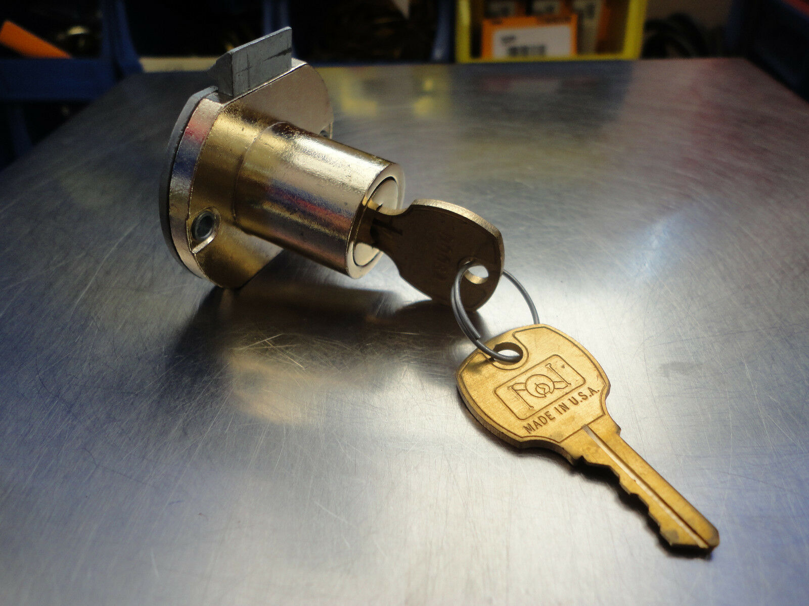 National  Drawer Lock With 2 D006A Keys Free Ship Bright Brass Finish