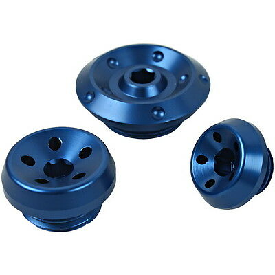 A Set Blue Engine Cover Camshaft Plug Kit For Yamaha FZ1000 FZ1N 2006-2012 10 11