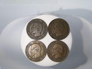 Details about 1855,1856 CINQ CENTIMES EMPIRE FRANCAIS NAPOLEON III COINS