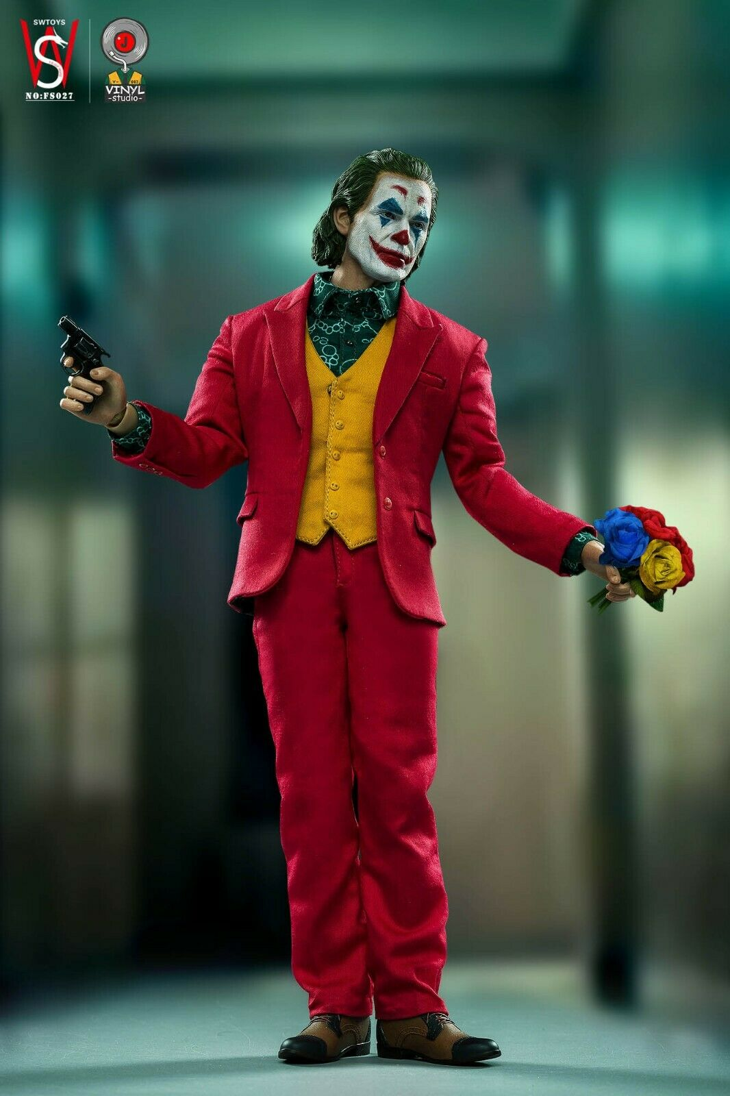 1 6 WOO leksaks WO-001 Joker Joaquin Phoenix Dress Suit Version Figur
