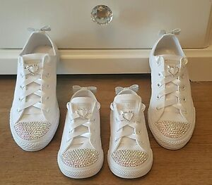 Bling Adult Romany Converse Diamond Customised Crystal 0nBPxO