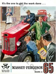Massey Ferguson 135 Tractor Advertising a3 Poster 3 For 2 Offer -