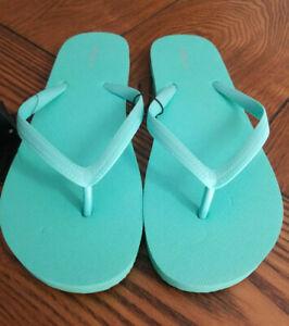 Flip Flops Aqua Sz M (7/8) Sandals Slip