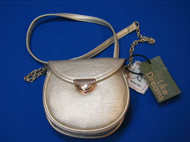 3b594bdf8 NEW Like Dreams Small Metallic Gold Handbag Evening Purse Shoulder Faux  Leather