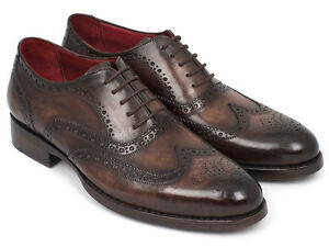 Paul-Parkman-all-039-inglese-Oxford-Goodyear-guardolo-cucito-Brown-ID-027-BRW