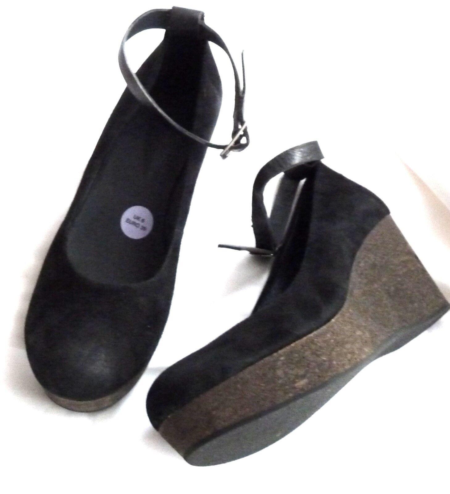 Platea Schuhe Lesson Gr.39, Veloursleder, schwarz