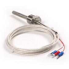 RTD Pt100 ohm Probe Sensor L 50mm PT NPT 1/2'' Thread with Lead Wire Cable